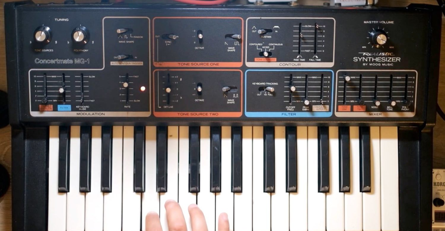 Deep Dive Into 'The Radio Shack Moog Synthesizer,' The Realistic Concertmate MG-1