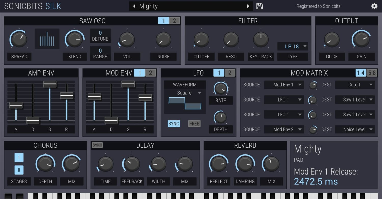 New Software Synth, Silk, Dedicated To The Sawtooth Waveform