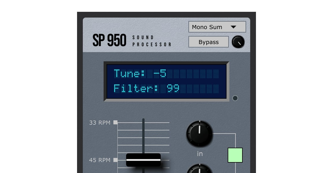 waveTracing Intros SP950 Effect Plugin Delivers 'Gritty Sound, With Mandatory Aliasing Effects'