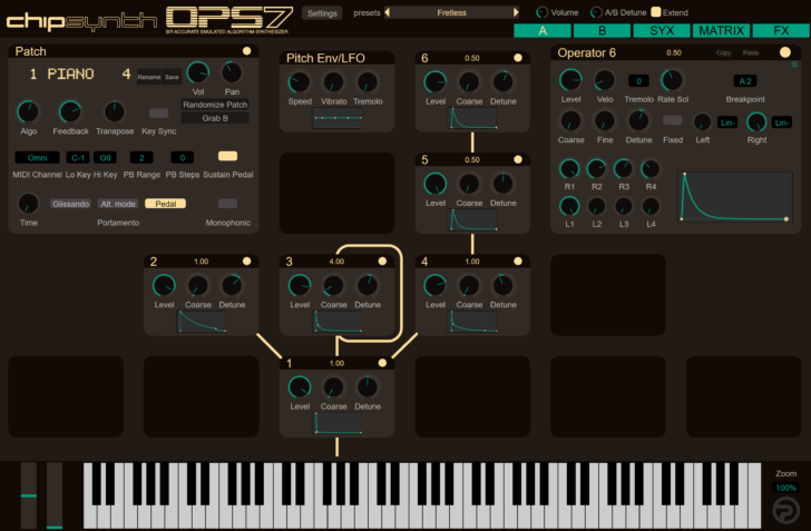 chipSynth OPS7 Offers Bit Accurate Emulation Of Yamaha DX7, DX1 & DX5