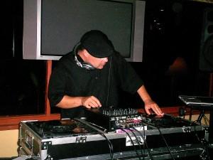 DJ Zinn Spinning a Maui event