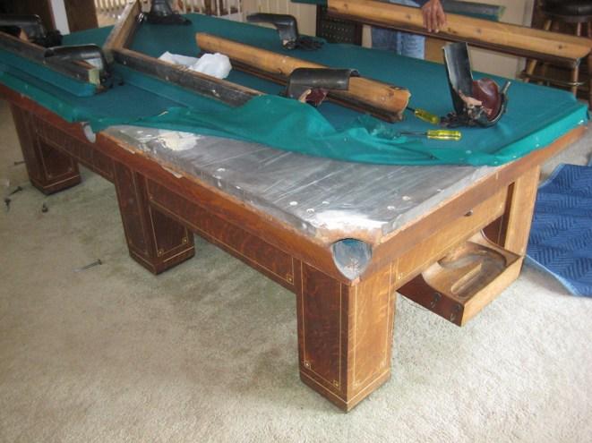 Antique Ball Return Pool Table Pool Table Service Billiard - Pool table movers san diego