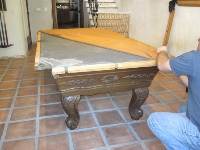 Surprise one piece slate move dk billiards pool table for 1 piece slate pool table
