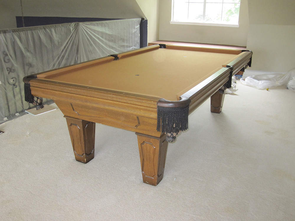 Surprise it s a one piece slate dk billiards pool table - How much does a pool table cost ...