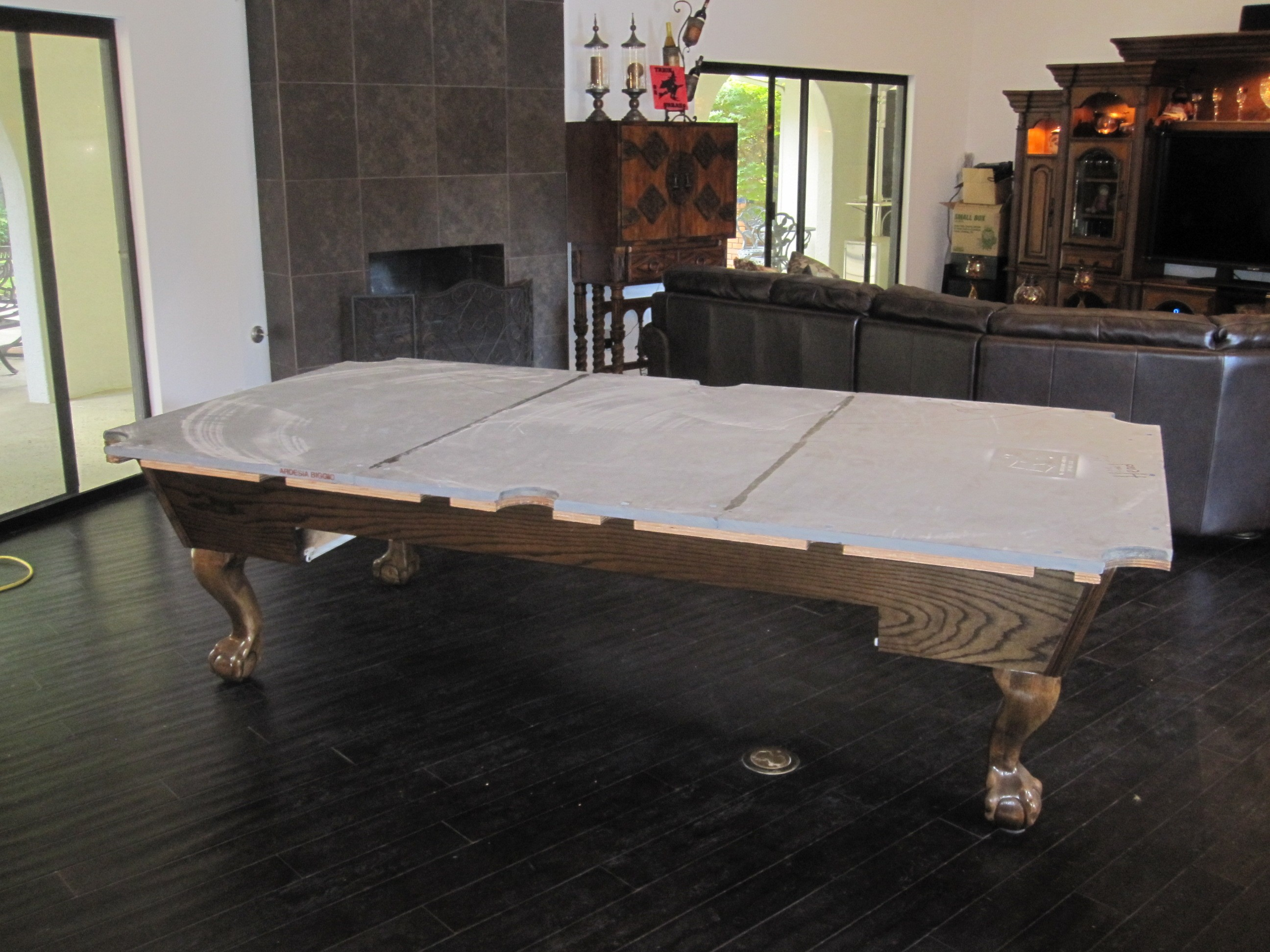 Gentil After The Rain Stopped Yesterday, We Headed Over To Chino Hills, CA To Move  A Nine Foot Camelot Pool Table For Our Client.