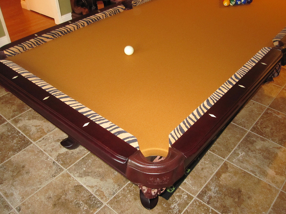 Tiger striped pool table dk billiards pool table sales for 10 in 1 pool table
