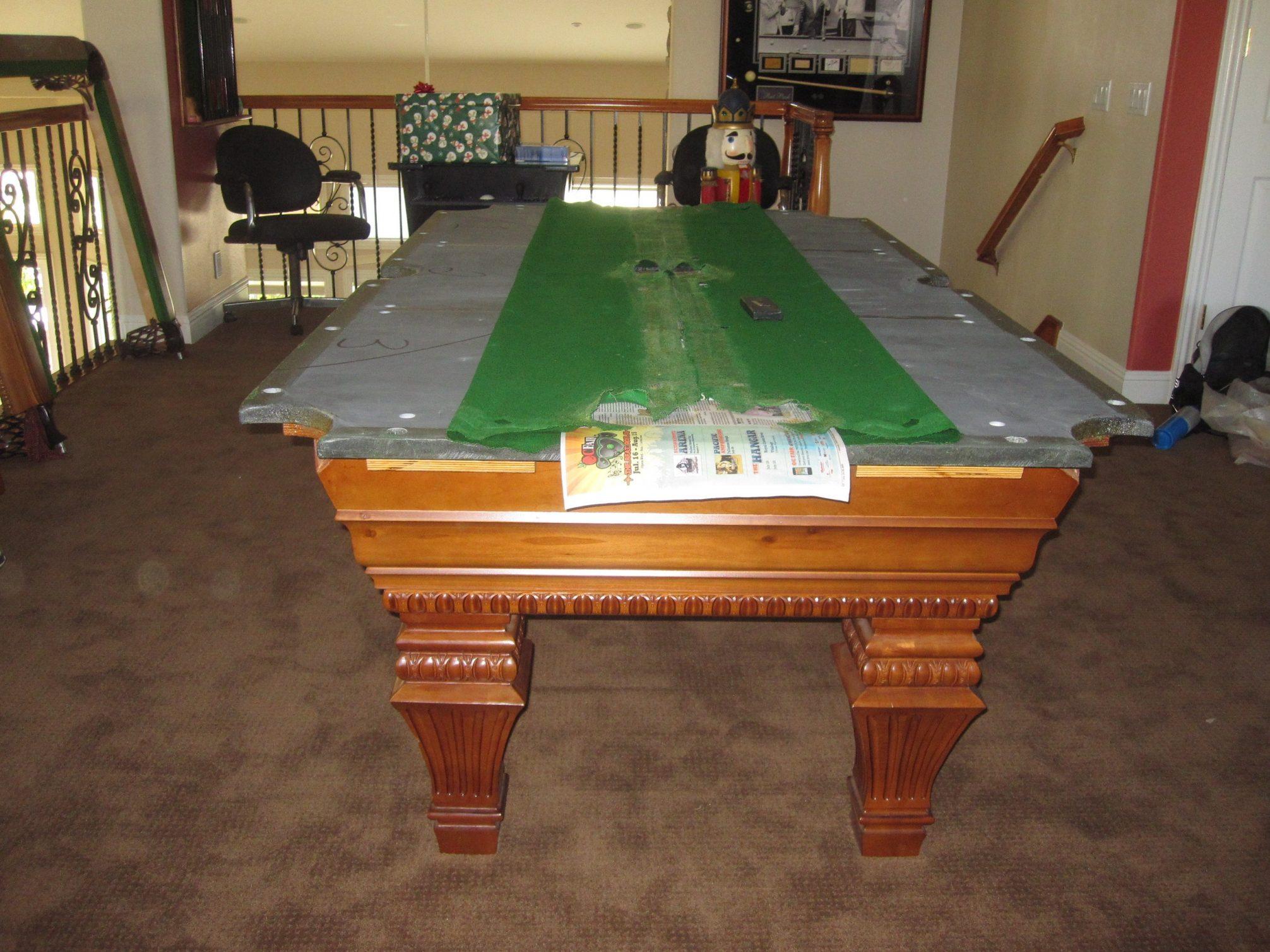 How to install a slate pool table dk billiards pool - Slate pool table ...