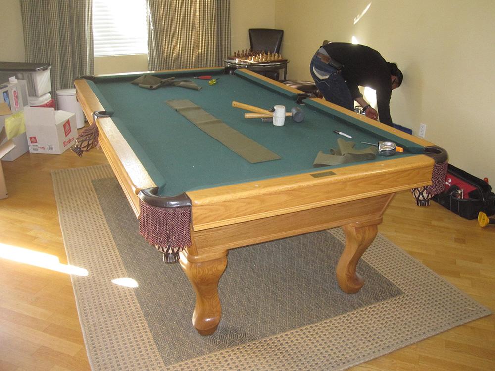 Trabuco Canyon Rug Swap Amp Refelt Dk Billiards Pool Table