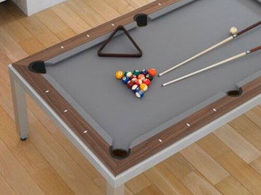 A practical solution was also required to store all billiard table  accessories like the cues, the triangle and the balls. Using rigid table  top panels, ...