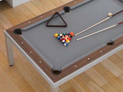 Charming A Practical Solution Was Also Required To Store All Billiard Table  Accessories Like The Cues, The Triangle And The Balls. Using Rigid Table Top  Panels, ...