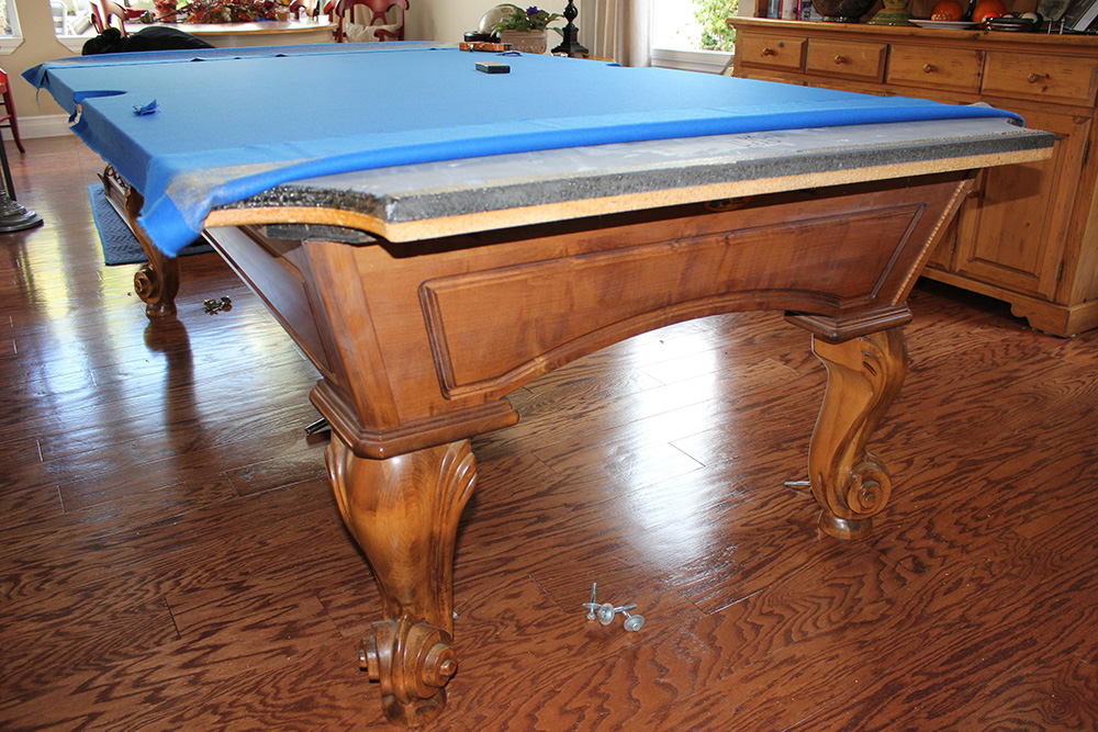 This Recently Divorced Father Of Three Purchased This Eight Foot Slate Pool  Table From A Buddy Of His In Seattle ...