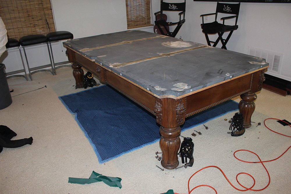 how to move a pool table a few feet