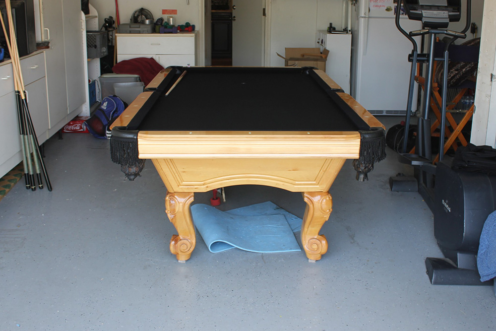 Our Client Just Scored An Awesome Slate Pool Table From A Friend Who Was  Moving And Didnu0027t Have Room For It. The Client Decided To Save Himself A  Little ...