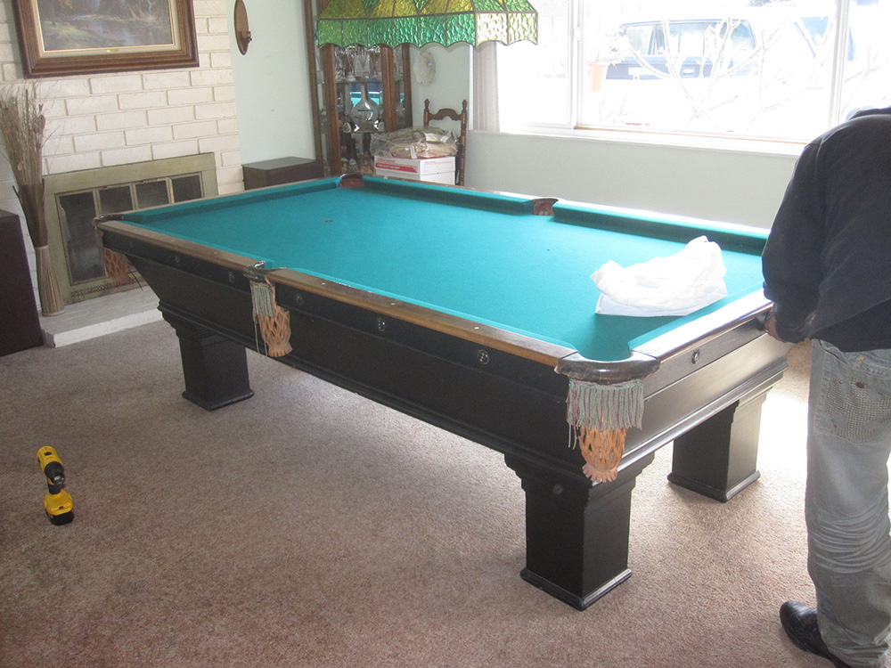 How To Disassemble A BrunswickBalkeCollender Pool Table Service - Brunswick commander pool table