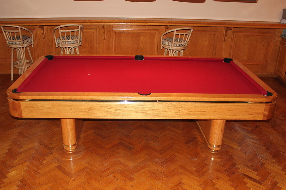 We Took A Short Drive Down To Laguna Niguel, California For A Pool Table  Refelting Service, This Solid Oak 9u2032 Goldenwest Tiburon II Received A Much  Needed ...