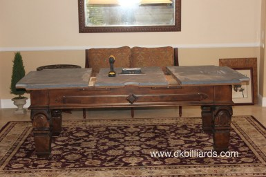 Placing an area rug under a pool table dk billiards service pool tables can be placed on top of rugs even rugs on top of wall to wall carpet they look nice and frame the space carpet can also dampen the noise of greentooth Gallery