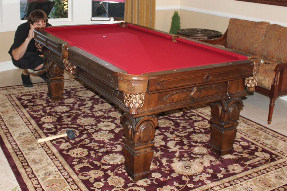 Beau Placing An Area Rug Under A Pool Table