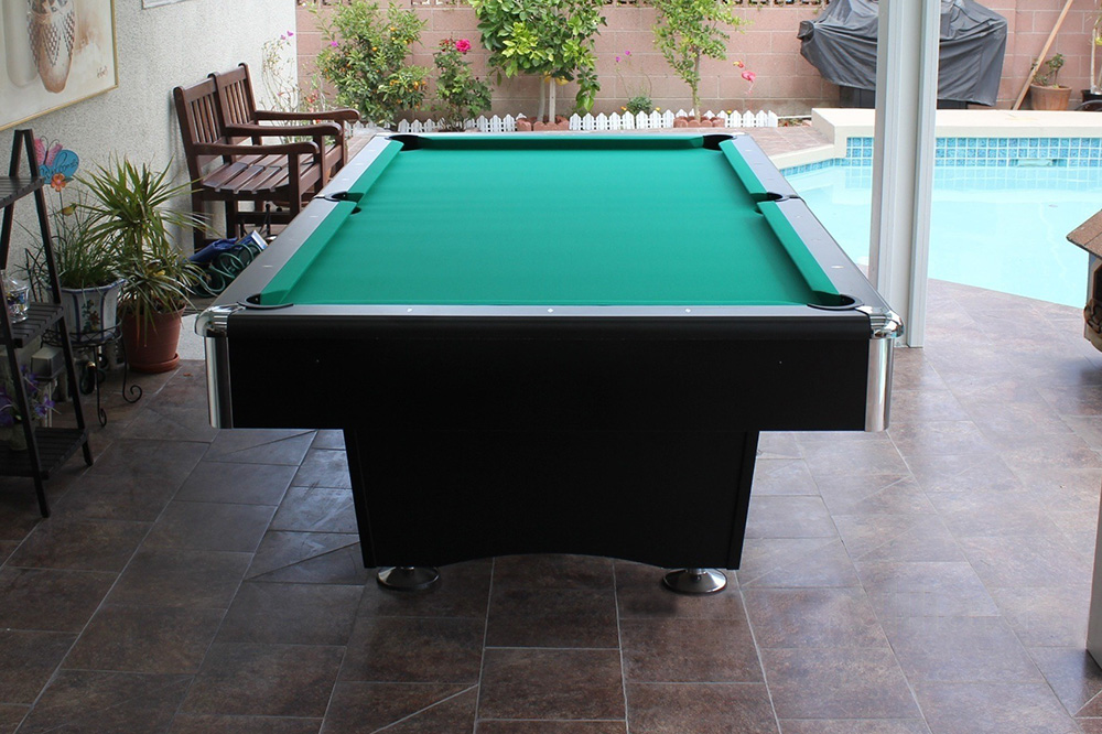 Billiard Table Under Covered Patio This American Made 8u2032 Addison Is A Great  Option For An Outside Spot. A Covered Patio In Garden Grove, California Is  Home ...