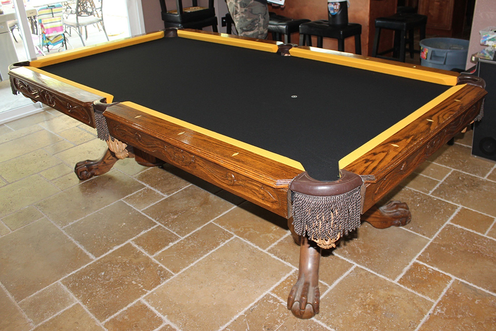 Steelers Pool Table Refelt Pool Table Service Billiard Supply - How to refelt a pool table