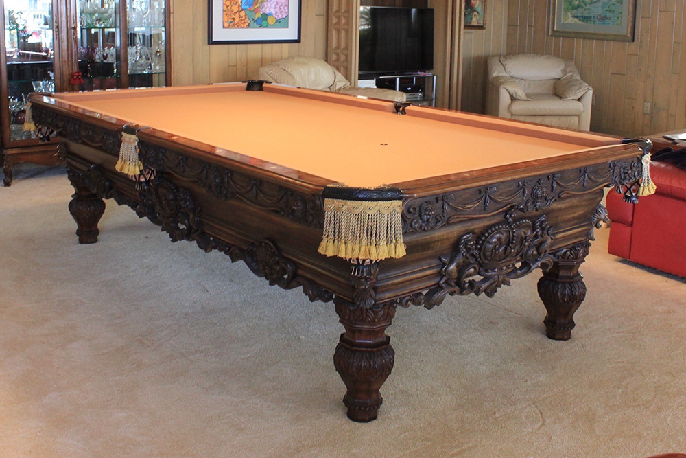 This 8u2032 Renaissance Pool Table Is Back In Action After A New  Flooring/recushion Hiatus. The Huntington Harbour, California Homeowners  Were Replacing The ...