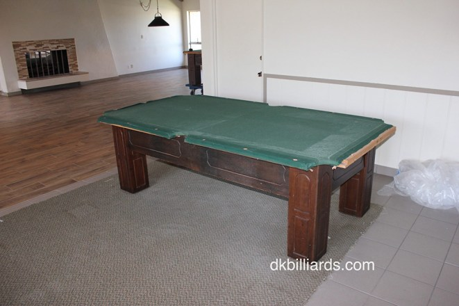 Clubhouse Remodel Pool Table Service Billiard Supply Orange - Pool table slate dolly
