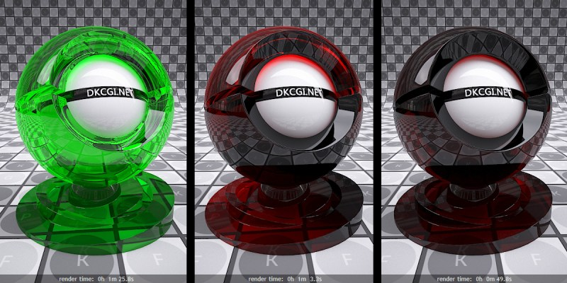 V-Ray Refraction Colors