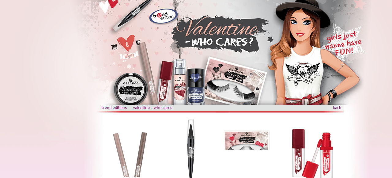 'Valentine – Who Cares' range from ESSENCE {PRESS RELEASE}