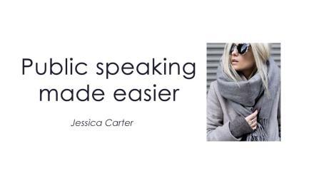 Public speaking made easier