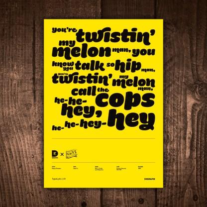 DK GRAFIK | TypoLyrics 01 | Step On