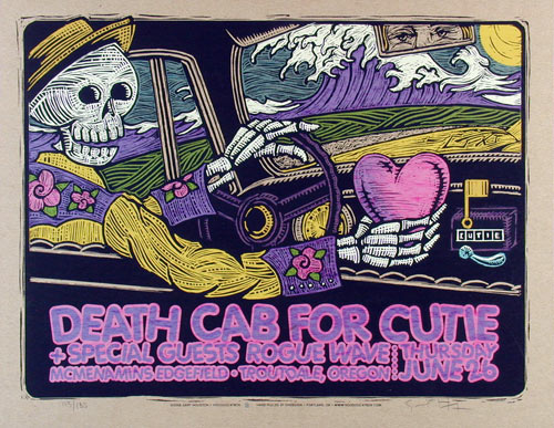 gary houston death cab for cutie poster
