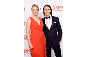 CEO of DKMS US Carina Ortel (L) and her husband, Henning Manninga