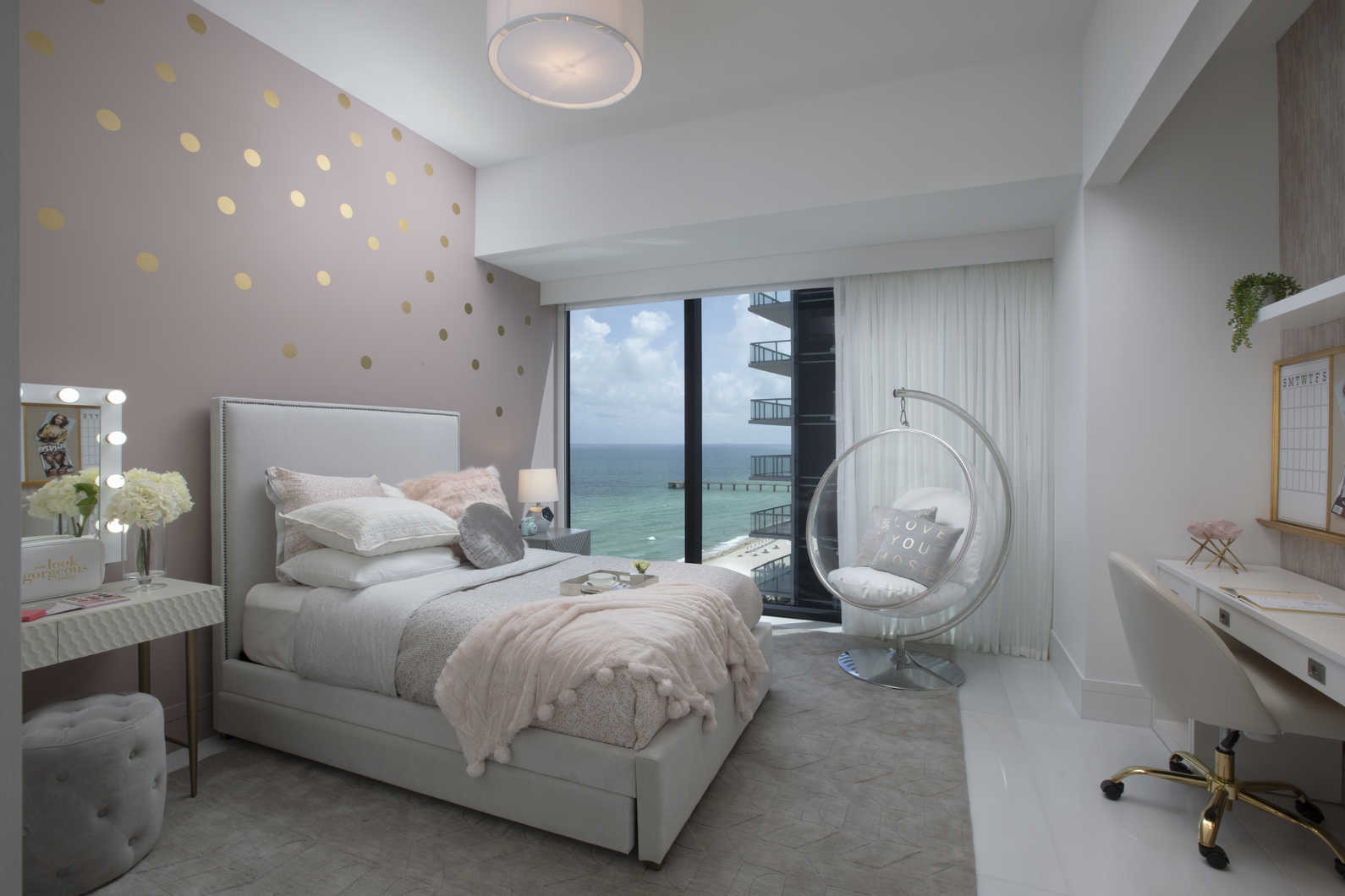 Luxe Waterfront Condo - Residential Interior Design From ... on Small Bedroom Ideas For Women  id=81715