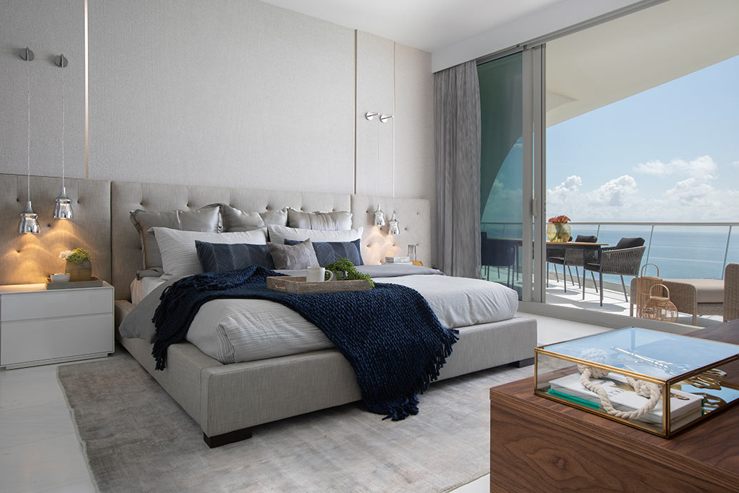 Master Bedroom Decor for a Nautical Miami Vacation Home on Master Bedroom Ideas  id=93317