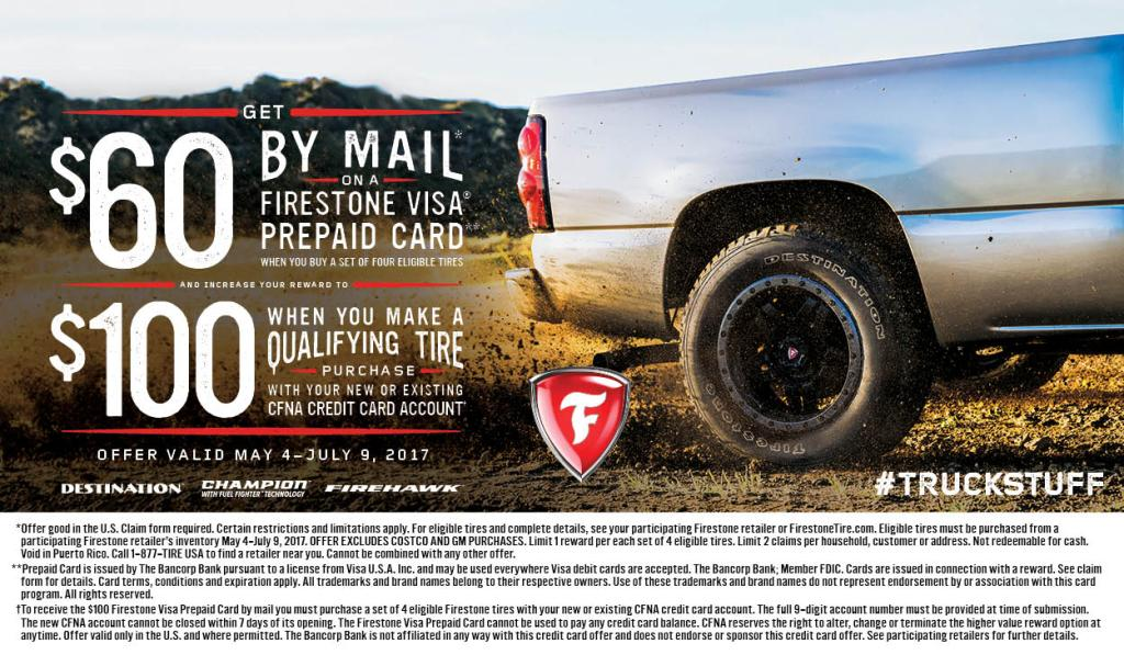 Firestone tire rebate 2017