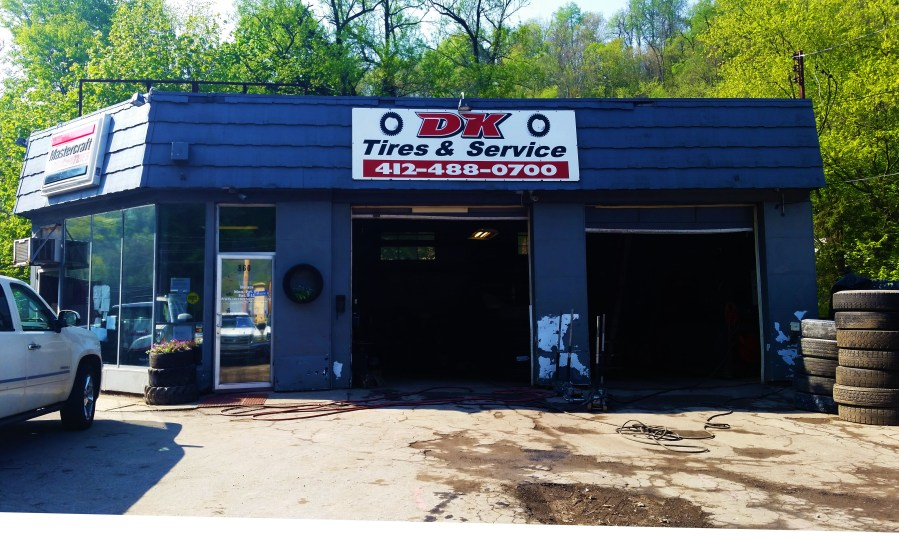 about us/dk tires & service front of building view