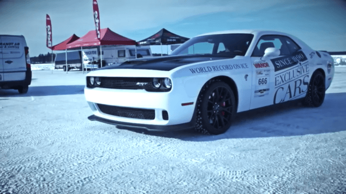 This Dodge Challenger Hellcat gets to 170 MPH....on ice.