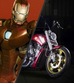 Ironman knows how to ride in style