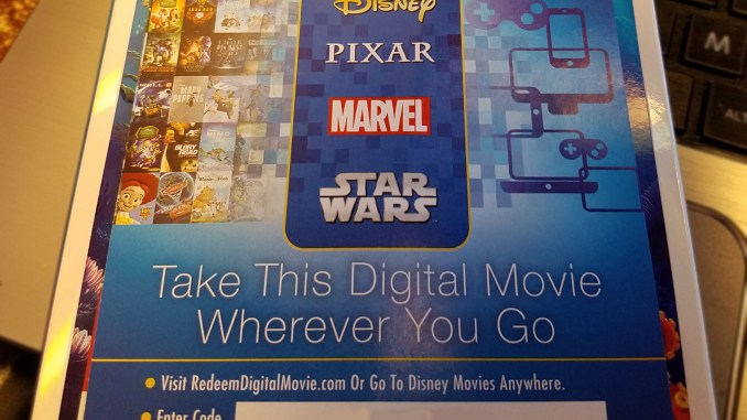 Finding Dory digital code