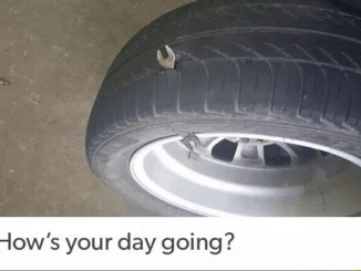 A tire in a wrench