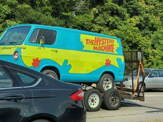 Towed Mystery Machine