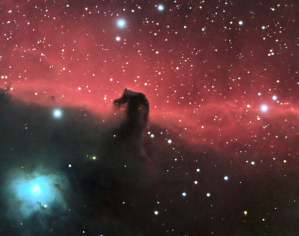 Horsehead and Flame Nebula in Orion 20Da and Film