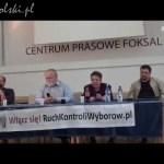 Konferencja prasowa RKW i raport obserwatorów zagranicznych z przebiegu I tury wyborów