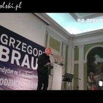 Leszek Żebrowski na konwencji Grzegorza Brauna