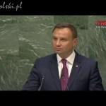 Zgromadzenie Ogólne ONZ w Nowym Jorku – przemówienie Andrzeja Dudy