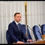 Przemówienie prezydenta Andrzeja Dudy wygłoszone podczas pierwszego posiedzenia Senatu IX kadencji