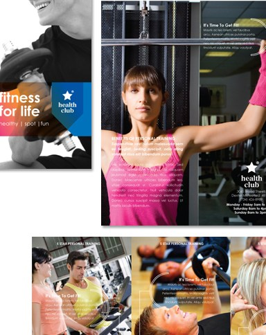 HD Decor Images » Fitness   Health Sports Club Tri Fold Brochure Template