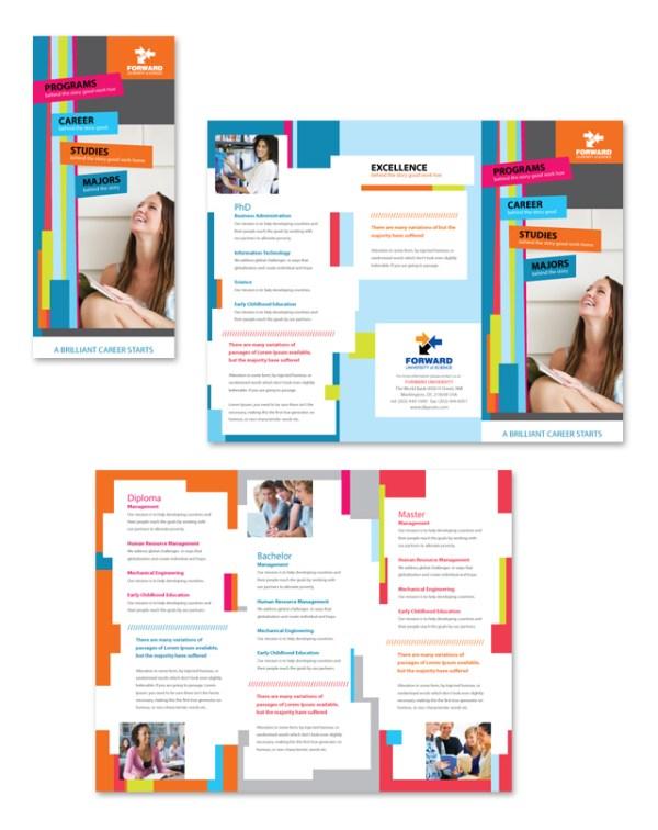 College University Tri Fold Brochure Template