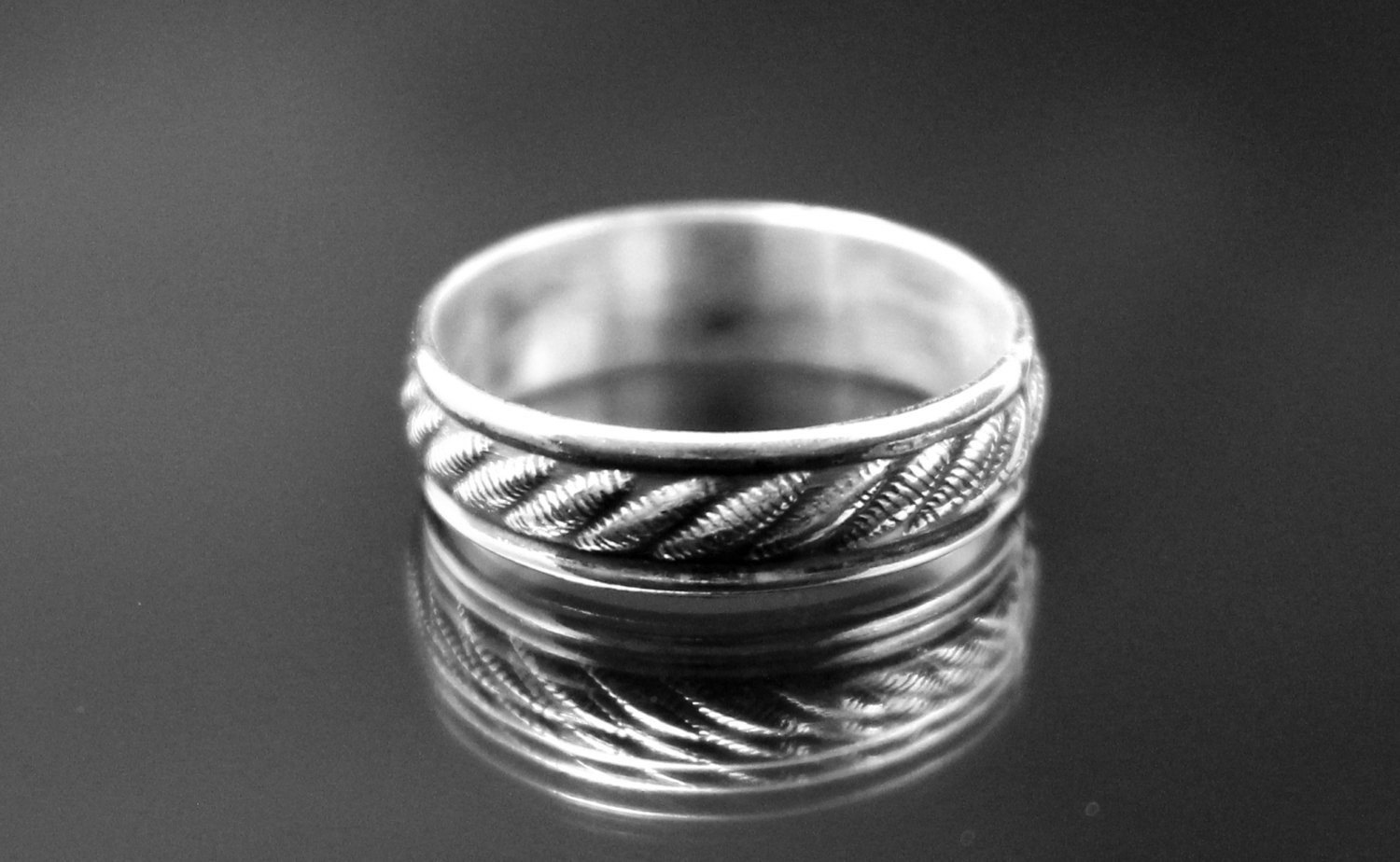 Twisted Wire Ring Band Twisted Ring Silver Ring Band Rope