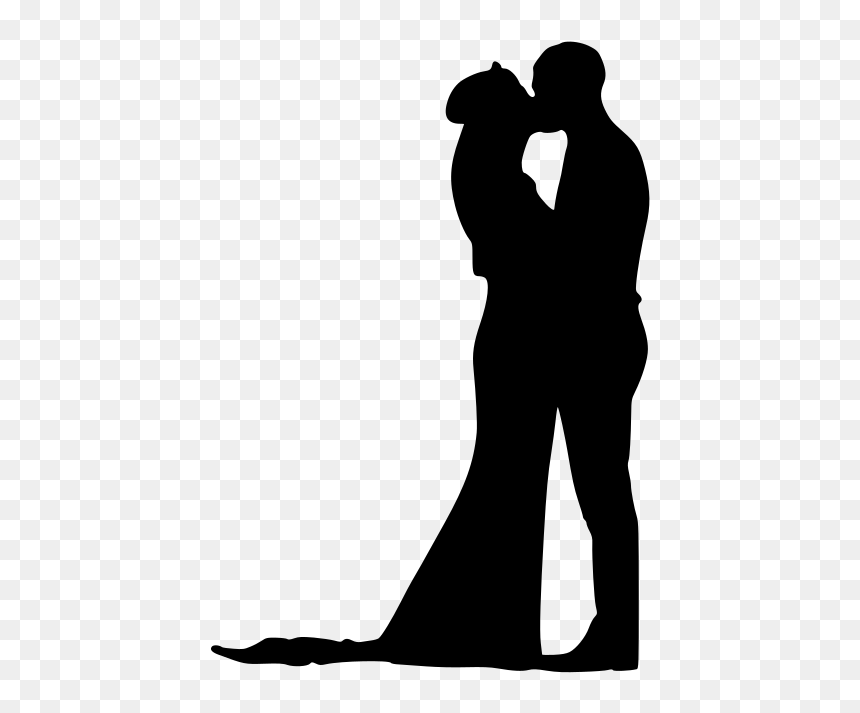 Download Love Couple Silhouette Svg, HD Png Download - 1537x1024 ...