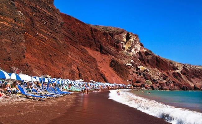 red beach greece